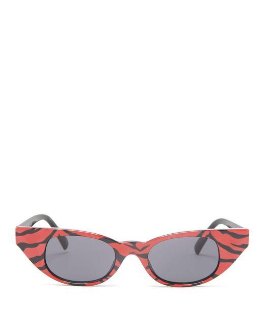 Le Specs - Multicolor The Breaker Tiger Print Acetate Sunglasses - Lyst