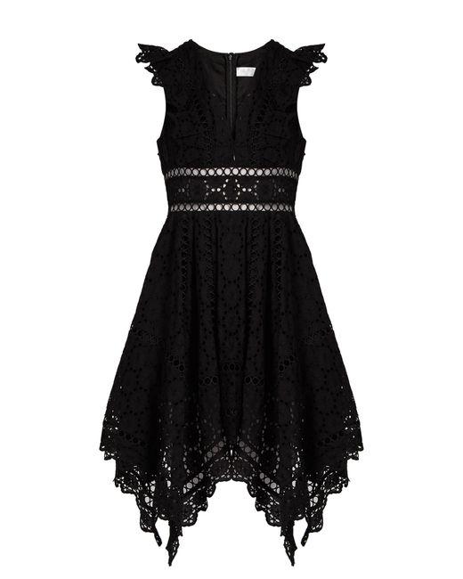 Zimmermann - Black Divinity Wheel Broderie-anglaise Dress - Lyst