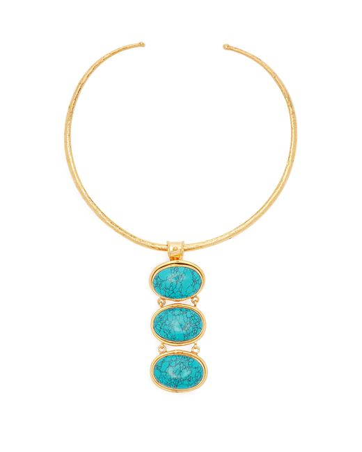 Sylvia Toledano - Blue Turquoise Drop Choker - Lyst
