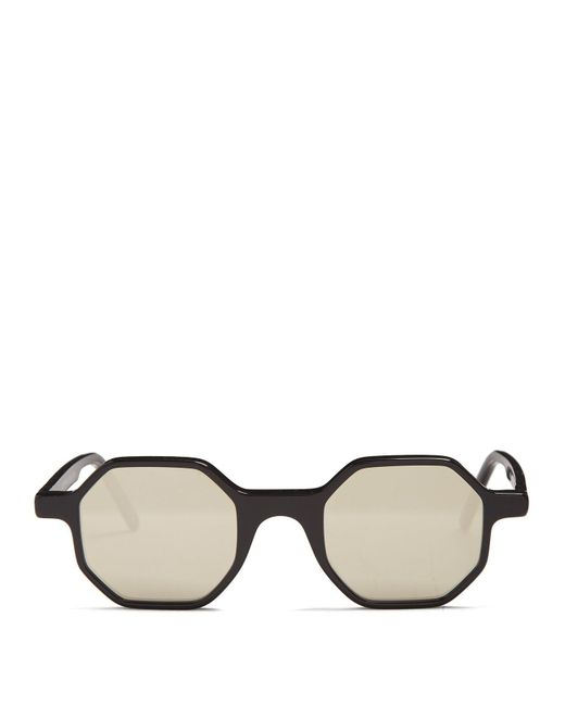 Andy Wolf - Black Alfons Octagon-frame Acetate Sunglasses for Men - Lyst