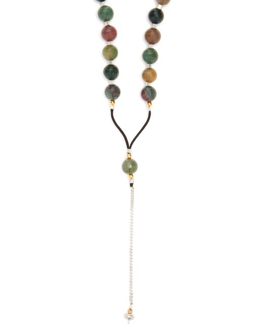 Black Dakini | Metallic Moss-agate And Cord Necklace for Men | Lyst