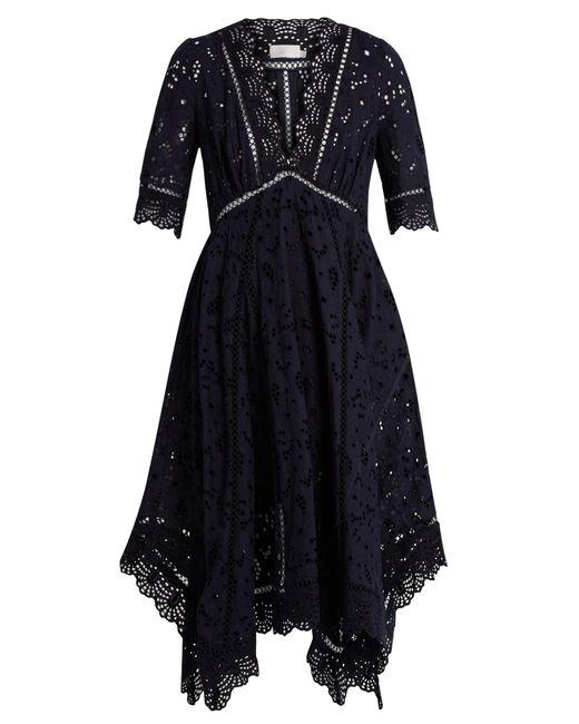 Zimmermann | Black Mariso Broderie-anglaise Dress | Lyst