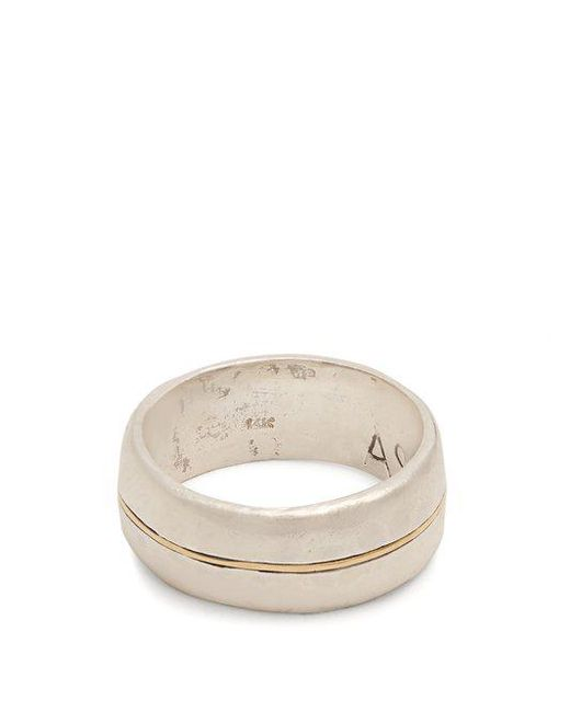 Aris Schwabe - Metallic Silver N' Gold Sterling-silver Ring for Men - Lyst