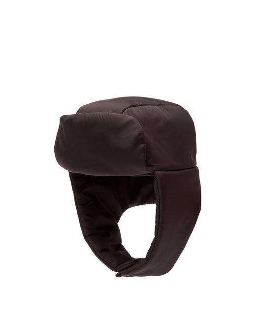 f4842eac645 Prada - Black Padded Trapper Hat for Men - Lyst ...