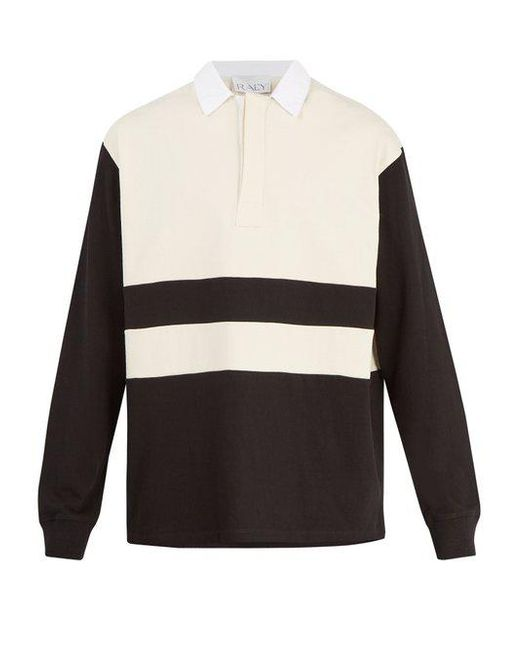 Long-sleeved cotton-jersey rugby shirt Raey Free Shipping Official Site Sale Original Outlet Latest Collections Free Shipping For Sale Buy Cheap Sale RHBC7Tcw