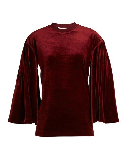 Toga - Flared-sleeves Velvet Top - Lyst