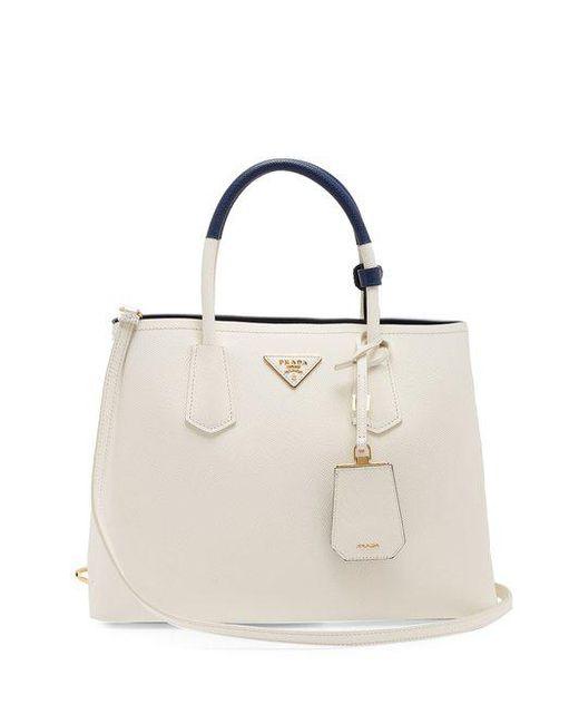 Double saffiano-leather bag Prada 6YM7usjJ