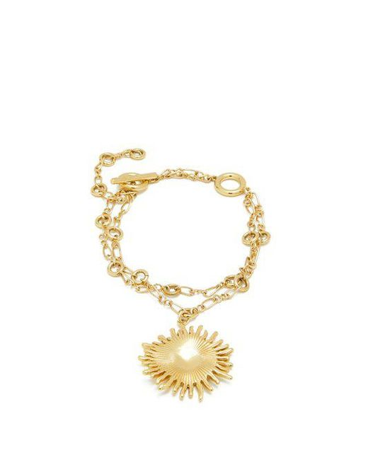 Crescent sun-charm double-chain bracelet Ellery xQ2f5fOTW