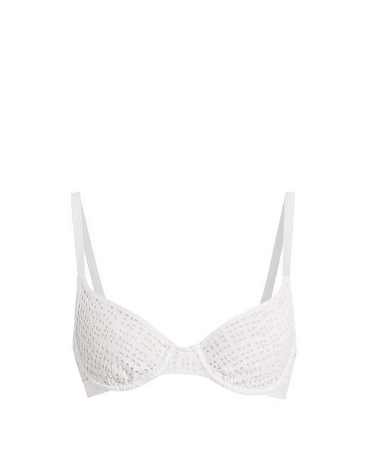 Negative Underwear - White Essaouira Underwired Demi Cup Mesh Bra - Lyst