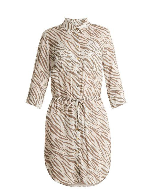 Heidi Klein - Natural Kalahari Zebra-print Poplin Shirtdress - Lyst