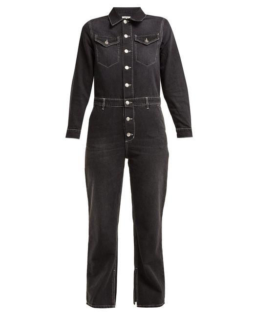 77b53ddae7fa Lyst - Ganni Rienzi Denim Jumpsuit in Black - Save 4%