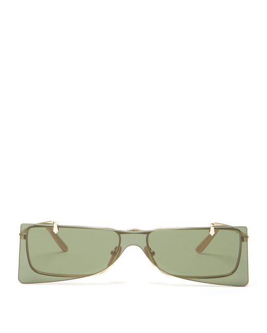 4b873856cc Gucci - Metallic Square Frame Metal Sunglasses for Men - Lyst ...