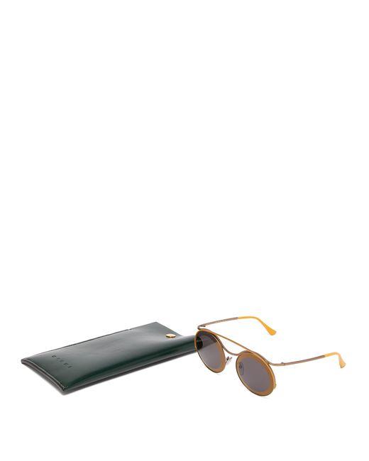 7a2f3f24061 ... Marni - Metallic Calder Round Frame Metal Sunglasses - Lyst ...