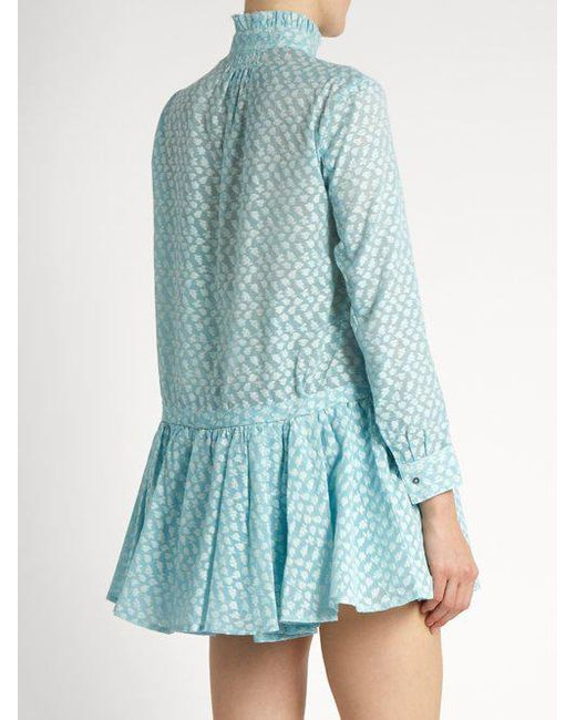 Lizbeth fil coupé silk-gauze dress Thierry Colson Cheap Manchester Great Sale Countdown Package Cheap Price qKAjX