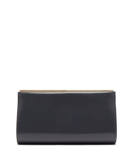 Valextra - Gray Lucky Stars Leather Clutch - Lyst