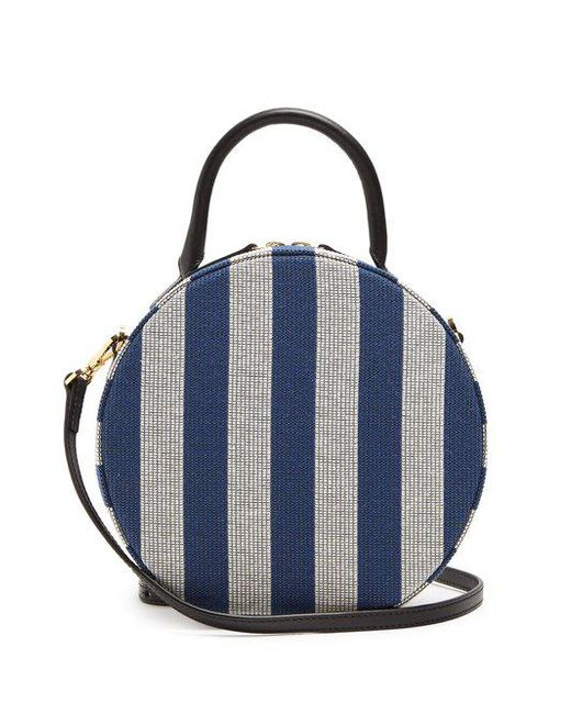 Circle gingham cotton-canvas cross-body bag Mansur Gavriel BpfxKROlIC