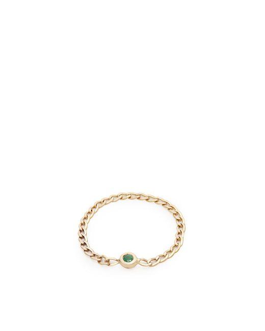 Loren Stewart - Metallic Emerald & Yellow Gold Chain Ring - Lyst
