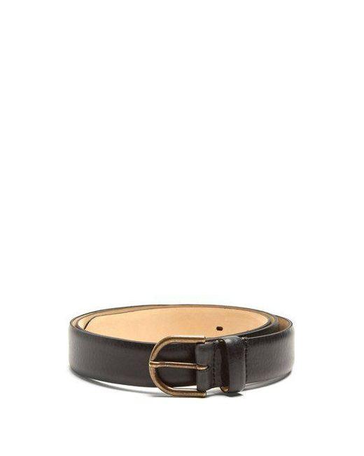 A.P.C. - Black Leo Leather Belt for Men - Lyst ...