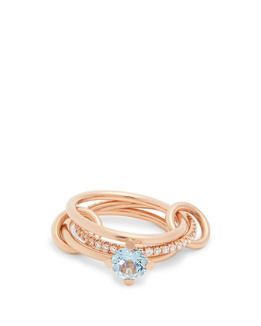 Spinelli Kilcollin - Metallic Astral Aquamarine, Diamond & Rose-gold Ring - Lyst