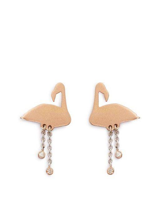 Marc Alary Diamond, pearl & pink-gold earrings