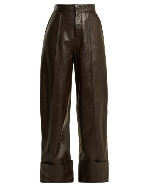 Joseph - Multicolor High-rise Leather Trousers - Lyst