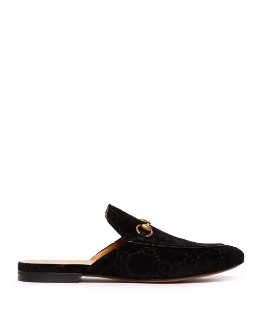 Gucci - Black Mocassins en velours à logo Suprême GG Kings for Men - Lyst