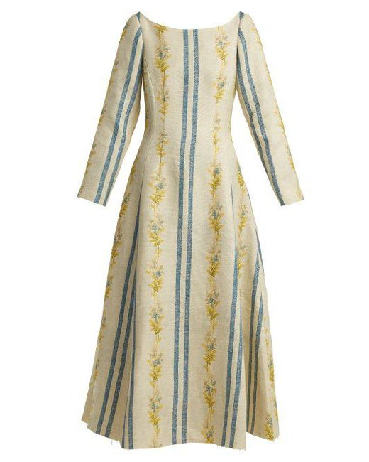 Dillan floral-print linen dress Brock Collection Pay With Visa For Sale CkV3D