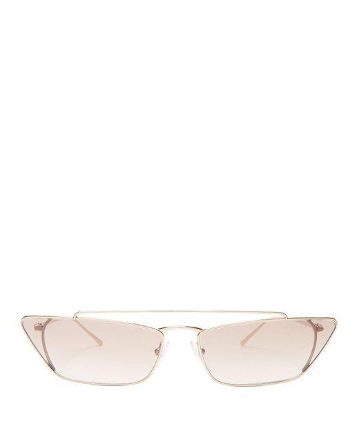 Prada - Pink Ultravox Metal Cat Eye Sunglasses - Lyst