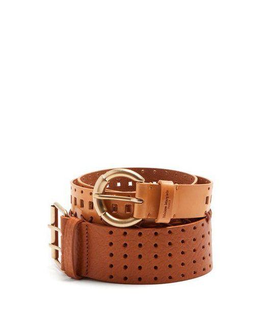 perforated double belt - Brown Maison Martin Margiela rpZffXUc