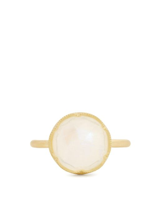 Irene Neuwirth - Metallic Rainbow Moonstone & Yellow-gold Ring - Lyst
