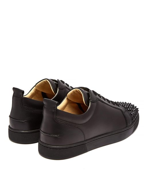 71ea64394b6 ... Christian Louboutin - Black Louis Junior Low Top Leather Trainers for  Men - Lyst ...