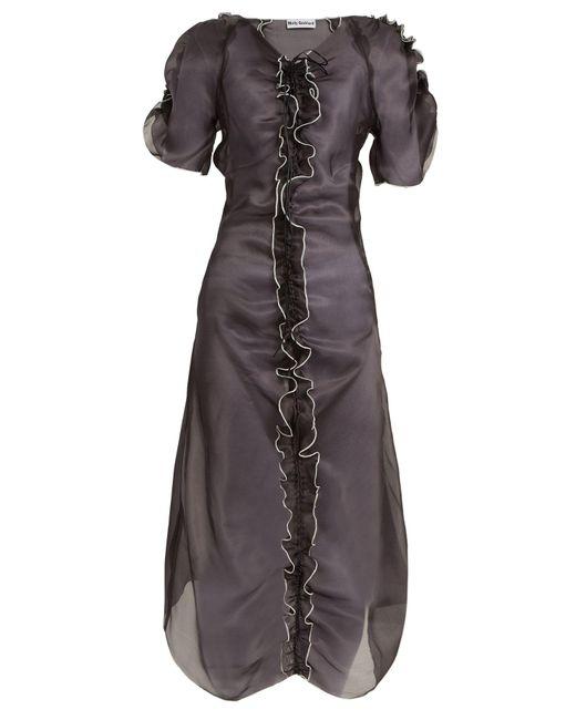 Molly Goddard - Black Erin Ruffle Trimmed Silk Organza Dress - Lyst