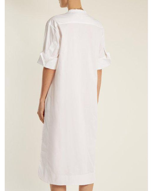 1814 cotton-blend poplin shirtdress Lila.Eug auWR9l105