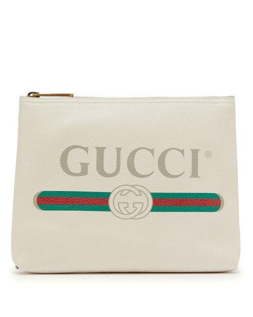 Logo-print leather pouch Gucci PjZopUHjA