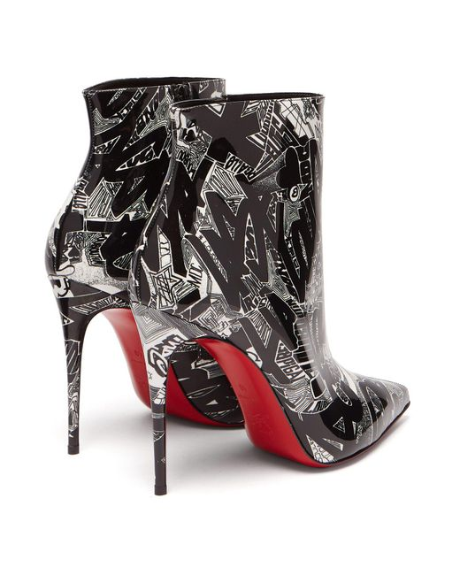 65daf6184198 ... Christian Louboutin - Black So Kate 100 Nicograf Print Ankle Boots -  Lyst ...
