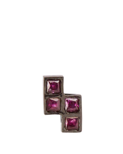 Ileana Makri - Ruby & Oxidised White-gold Earring - Lyst