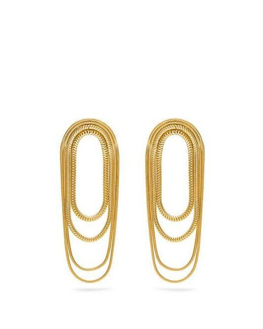 Fernando Jorge - Metallic Yellow-gold Parallel Earrings - Lyst