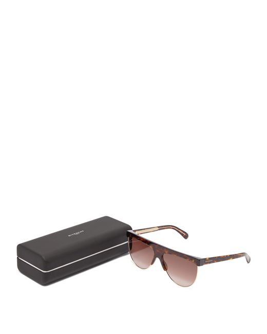 37be759a9b ... Givenchy - Brown Flat Top Tortoiseshell Sunglasses - Lyst ...