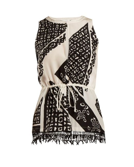 Altuzarra - - Bourse Bandana Print Top - Womens - Black Print - Lyst