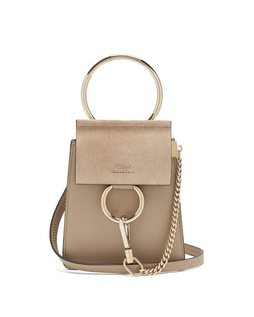 Chloé - Gray Faye Mini Suede And Leather Cross-body Bag - Lyst