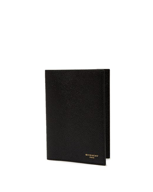 233d34ccf48210 ... Givenchy - Black Eros Grained Leather Travel Wallet for Men - Lyst ...