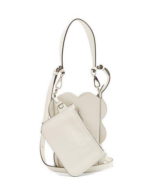 Leather Bucket Bag - White Miu Miu FnQHgT