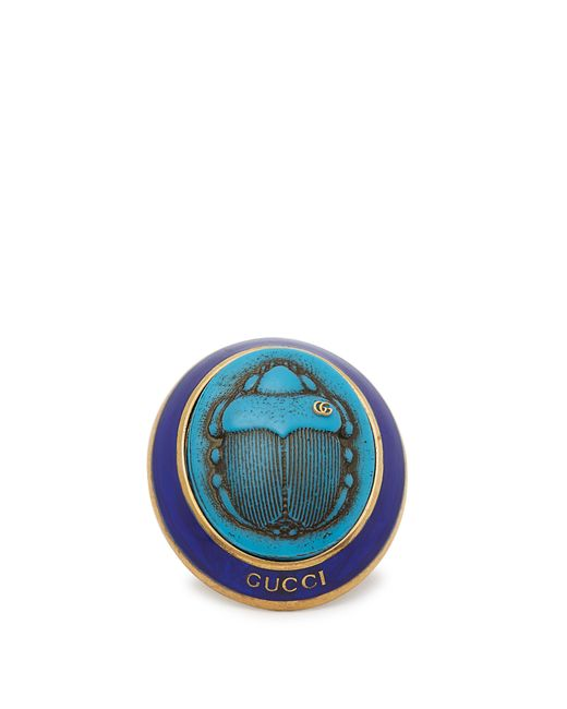 Gucci - Blue Beetle Ring - Lyst
