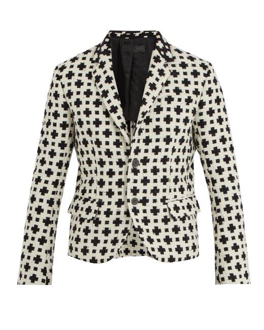 Haider Ackermann | Black Cross-pattern Single-breasted Wool-blend Blazer for Men | Lyst