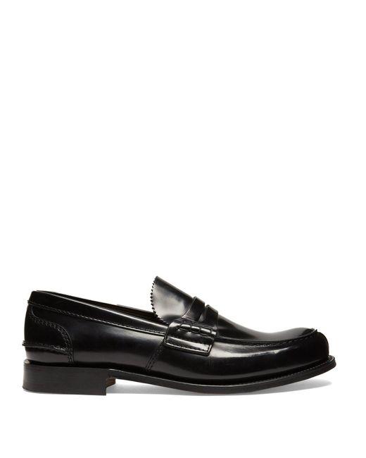 0f414e59e25 Church s - Black Tunbridge Leather Loafers for Men - Lyst ...