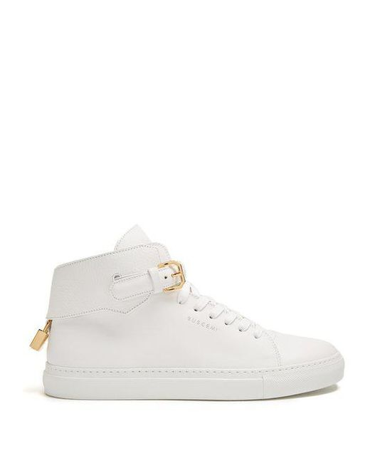 Sale Low Shipping Fee 100mm Buckle high-top canvas trainers Buscemi Buy Cheap Real Really Cheap Price DhZj5