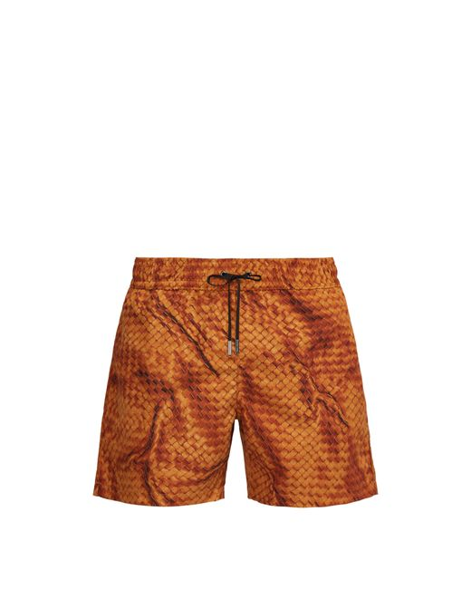 Bottega Veneta - Orange Short de bain à imprimé intrecciato for Men - Lyst