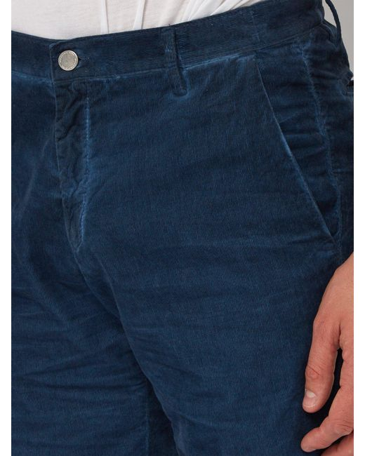 a6858b4a562 ... Massimo Alba - Blue Watercolour Cotton Corduroy Shorts for Men - Lyst