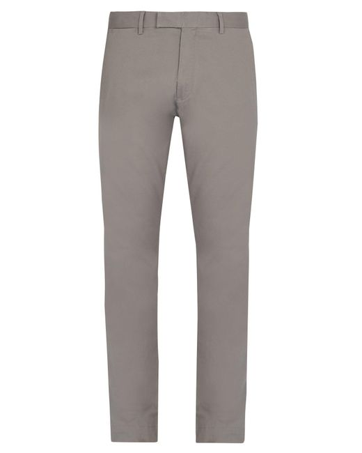 Polo Ralph Lauren - Gray Slim Fit Chino Trousers for Men - Lyst