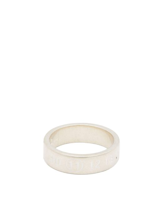 Maison Margiela - Metallic Numbers Engraved Sterling Silver Ring for Men - Lyst